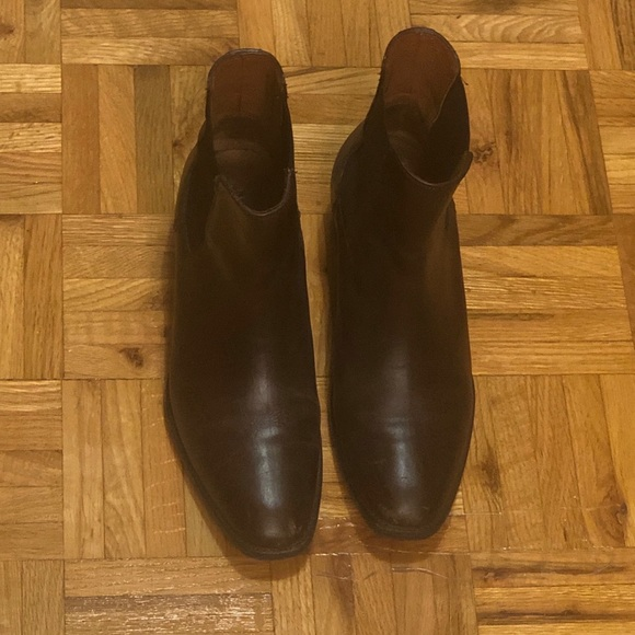 Brown Leather Frye Chelsea Boots